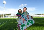 11 February 2018; Michelle Claffey of Ireland celebrates with Isabelle Neville, age 2, following her side's victory in the Women's Six Nations Rugby Championship match between Ireland and Italy at Donnybrook Stadium in Dublin. Photo by David Fitzgerald/Sportsfile