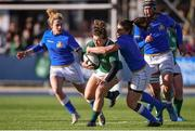11 February 2018; Katie Fitzhenry of Ireland is tackled by Maria Magatti of Italy during the Women's Six Nations Rugby Championship match between Ireland and Italy at Donnybrook Stadium in Dublin. Photo by David Fitzgerald/Sportsfile