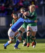 11 February 2018; Claire Molloy of Ireland is tackled by Valentina Ruzza of Italy during the Women's Six Nations Rugby Championship match between Ireland and Italy at Donnybrook Stadium in Dublin. Photo by David Fitzgerald/Sportsfile