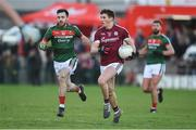 11 February 2018; Shane Walsh of Galway in action against Kevin McLoughlin of Mayo during the Allianz Football League Division 1 Round 3 match between Galway and Mayo at Pearse Stadium in Galway. Photo by Diarmuid Greene/Sportsfile