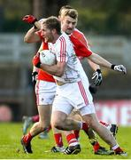 11 February 2018; Ruairi Deane of Cork in action against Gerald McSorley of Louth during the Allianz Football League Division 2 Round 3 match between Cork and Louth at Páirc Ui Rinn in Cork. Photo by Eóin Noonan/Sportsfile