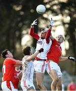 11 February 2018; Daniel O'Callaghan of Cork in action against James Stewart of Louth during the Allianz Football League Division 2 Round 3 match between Cork and Louth at Páirc Ui Rinn in Cork. Photo by Eóin Noonan/Sportsfile