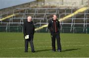 11 February 2018; Down County Board Secretary Seán Óg McAteer and manager Eamonn Burns inspect the pitch ahead of the Allianz Football League Division 2 Round 3 match between Roscommon and Down at Dr. Hyde Park in Roscommon. Photo by Daire Brennan/Sportsfile
