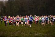 10 February 2018; A general view of the start of the U11 Girls event during the Irish Life Health Intermediates, Masters, Juvenile B & Juvenile XC Relays at Kilcoran Estate in Clainbridge, County Galway.   Photo by Sam Barnes/Sportsfile