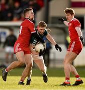 11 February 2018; Daniel Flynn of Kildare in action against Niall Sludden, left, and Peter Harte of Tyrone during the Allianz Football League Division 1 Round 3 match between Kildare and Tyrone at St Conleth's Park in Newbridge, Kildare. Photo by Piaras Ó Mídheach/Sportsfile