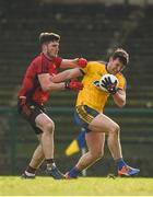 11 February 2018; Diarmuid Murtagh of Roscommon in action against Niall McParland of Down during the Allianz Football League Division 2 Round 3 match between Roscommon and Down at Dr. Hyde Park in Roscommon. Photo by Daire Brennan/Sportsfile