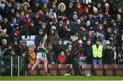 11 February 2018; Cillian O'Connor of Mayo leaves the pitch past Mayo manager Stephen Rochford after he was shown a red card by referee Anthony Nolan during the Allianz Football League Division 1 Round 3 match between Galway and Mayo at Pearse Stadium in Galway. Photo by Diarmuid Greene/Sportsfile