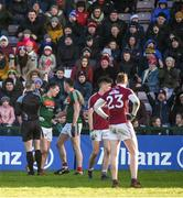 11 February 2018; Cillian O'Connor of Mayo is shown a red card by referee Anthony Nolan during the Allianz Football League Division 1 Round 3 match between Galway and Mayo at Pearse Stadium in Galway. Photo by Diarmuid Greene/Sportsfile