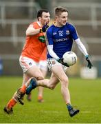 11 February 2018; Dessie Reynolds of Longford in action against Brendan Donaghy of Armagh during the Allianz Football League Division 3 Round 3 match between Armagh and Longford at the Athletic Grounds in Armagh. Photo by Oliver McVeigh/Sportsfile