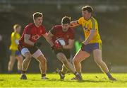 11 February 2018; Niall McParland of Down in action against Finbar Cregg of Roscommon during the Allianz Football League Division 2 Round 3 match between Roscommon and Down at Dr. Hyde Park in Roscommon. Photo by Daire Brennan/Sportsfile