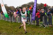 10 February 2018; Faye O'Riordan of Carraig-Na-Bhfear AC, Co Cork, on her way to winning the Girls U11 event during the Irish Life Health Intermediates, Masters, Juvenile B & Juvenile XC Relays at Kilcoran Estate in Clainbridge, County Galway. Photo by Sam Barnes/Sportsfile