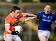 11 February 2018; Charlie Vernon of Armagh in action against Patrick Fox of Longford during the Allianz Football League Division 3 Round 3 match between Armagh and Longford at the Athletic Grounds in Armagh. Photo by Oliver McVeigh/Sportsfile
