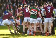 11 February 2018; Aidan O'Shea of Mayo is removed from an altercation by Paul Conroy of Galway during the Allianz Football League Division 1 Round 3 match between Galway and Mayo at Pearse Stadium in Galway. Photo by Diarmuid Greene/Sportsfile