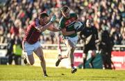 11 February 2018; Diarmuid O'Connor of Mayo in action against Gareth Bradshaw of Galway during the Allianz Football League Division 1 Round 3 match between Galway and Mayo at Pearse Stadium in Galway. Photo by Diarmuid Greene/Sportsfile