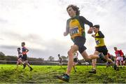 10 February 2018; Luke Gilmartin of Annalee AC, Co Cavan, competing in the Boys U13 event during the Irish Life Health Intermediates, Masters, Juvenile B & Juvenile XC Relays at Kilcoran Estate in Clainbridge, County Galway. Photo by Sam Barnes/Sportsfile