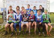10 February 2018; Boys U11 medallists during the Irish Life Health Intermediates, Masters, Juvenile B & Juvenile XC Relays at Kilcoran Estate in Clainbridge, County Galway. Photo by Sam Barnes/Sportsfile