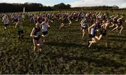 10 February 2018; A general view of the start of the Master Men O35-64 Event during the Irish Life Health Intermediates, Masters, Juvenile B & Juvenile XC Relays at Kilcoran Estate in Clainbridge, County Galway. Photo by Sam Barnes/Sportsfile