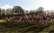 10 February 2018; A general view of the start of the Intermediate Womens event during the Irish Life Health Intermediates, Masters, Juvenile B & Juvenile XC Relays at Kilcoran Estate in Clainbridge, County Galway. Photo by Sam Barnes/Sportsfile