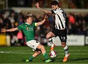 11 February 2018; Stephen Folan of Dundalk in action against Conor McCormack of Cork City during the President's Cup match between Dundalk and Cork City at Oriel Park in Dundalk, Co Louth. Photo by Seb Daly/Sportsfile