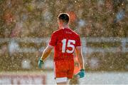 11 February 2018; Connor McAliskey of Tyrone in a snow flurry during the Allianz Football League Division 1 Round 3 match between Kildare and Tyrone at St Conleth's Park in Newbridge, Kildare. Photo by Piaras Ó Mídheach/Sportsfile