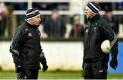 11 February 2018; Kildare selectors Enda Murphy, left, and Ronan Sweeney before the Allianz Football League Division 1 Round 3 match between Kildare and Tyrone at St Conleth's Park in Newbridge, Kildare. Photo by Piaras Ó Mídheach/Sportsfile