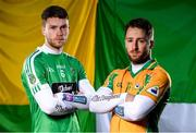 12 February 2018; Corofin's Michael Lundy and Moorefield's James Murray are pictured ahead of the AIB GAA All-Ireland Senior Football Club Championship Semi-Final taking place at O'Connor Park on Saturday, 17th of February. For exclusive content and behind the scenes action throughout the AIB GAA & Camogie Club Championships follow AIB GAA on Facebook, Twitter, Instagram and Snapchat and www.aib.ie/gaa. Photo by Sam Barnes/Sportsfile
