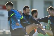 12 February 2018; Adam Byrne, left, and Dave Kearney during Leinster Rugby squad training at Donnybrook Stadium in Dublin. Photo by Piaras Ó Mídheach/Sportsfile