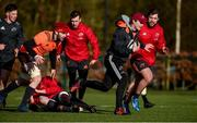 12 February 2018; Tyler Bleyendaal during Munster Rugby squad training at the University of Limerick in Limerick. Photo by Diarmuid Greene/Sportsfile