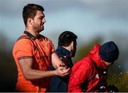 12 February 2018; Jean Kleyn with strength and conditioning coach Adam Sheehan during Munster Rugby squad training at the University of Limerick in Limerick. Photo by Diarmuid Greene/Sportsfile