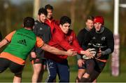 12 February 2018; Alex Wootton with Jean Kleyn and Stephen Fitzgerald during Munster Rugby squad training at the University of Limerick in Limerick. Photo by Diarmuid Greene/Sportsfile