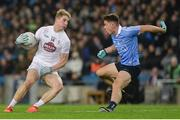 27 January 2018; Daniel Flynn of Kildare in action against David Byrne of Dublin during the Allianz Football League Division 1 Round 1 match between Dublin and Kildare at Croke Park in Dublin. Photo by Piaras Ó Mídheach/Sportsfile