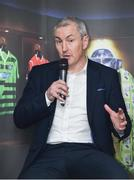 13 February 2018; Manager of Cork City John Caulfield speaking during the SSE Airtricity League Launch 2018 at the Aviva Stadium in Dublin. Photo by Seb Daly/Sportsfile