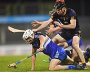 13 February 2018; Patrick Maher of Dublin Institute of Technology in action against Conor Delaney of DCU Dóchas Éireann during the Electric Ireland HE GAA Fitzgibbon Cup Semi-Final match between Dublin Institute of Technology and DCU Dóchas Éireann at Parnell Park in Dublin. Photo by Eóin Noonan/Sportsfile