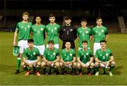 13 February 2018; The Republic of Ireland team prior to the Under 17 International Friendly match between the Republic of Ireland and Turkey at Eamonn Deacy Park in Galway. Photo by Diarmuid Greene/Sportsfile