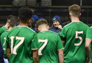 13 February 2018; Republic of Ireland manager Colin O'Brien speaks to his players after the Under 17 International Friendly match between the Republic of Ireland and Turkey at Eamonn Deacy Park in Galway. Photo by Diarmuid Greene/Sportsfile