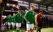 13 February 2018; Callum Thompson of Republic of Ireland makes his way out for the Under 17 International Friendly match between the Republic of Ireland and Turkey at Eamonn Deacy Park in Galway. Photo by Diarmuid Greene/Sportsfile