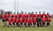 14 February 2018; The North East squad prior to the Shane Horgan Cup 4th Round match between South East and North East at Ashbourne RFC in Ashbourne, Co Meath. Photo by David Fitzgerald/Sportsfile