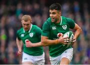 10 February 2018; Conor Murray of Ireland during the Six Nations Rugby Championship match between Ireland and Italy at the Aviva Stadium in Dublin. Photo by Brendan Moran/Sportsfile
