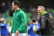10 February 2018; Jonathan Sexton of Ireland, left, with head coach Joe Schmidt prior to the Six Nations Rugby Championship match between Ireland and Italy at the Aviva Stadium in Dublin. Photo by Brendan Moran/Sportsfile
