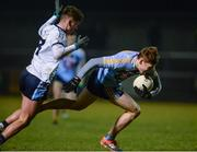 14 February 2018; Con O'Callaghan of University College Dublin, right, in action against Michael McKernan of Ulster University during the Electric Ireland HE GAA Sigerson Cup Semi-Final match between Ulster University and University College Dublin at Grattan Park in Inniskeen, Monaghan. Photo by Oliver McVeigh/Sportsfile