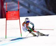 15 February 2018; Tess Arbez of Ireland in action during the Ladies Giant Slalom on day six of the Winter Olympics at the Yongpyong Alpine Centre in Pyeongchang-gun, South Korea. Photo by Ramsey Cardy/Sportsfile