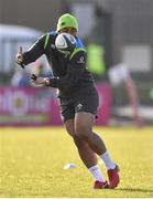 15 February 2018; Bundee Aki during Ireland Rugby squad training at Buccaneers RFC, Dubarry Park, Athlone, Westmeath. Photo by Harry Murphy/Sportsfile