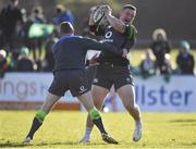 15 February 2018; Andrew Porter, right, is tackled by Fergus McFadden during Ireland Rugby squad training at Buccaneers RFC, Dubarry Park, Athlone, Westmeath. Photo by Brendan Moran/Sportsfile