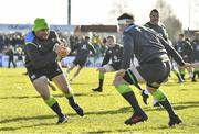15 February 2018; Rory Best in action against Peter O'Mahony during Ireland Rugby squad training at Buccaneers RFC, Dubarry Park, Athlone, Westmeath. Photo by Brendan Moran/Sportsfile