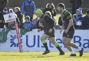 15 February 2018; Tadhg Furlong, left, and Iain Henderson during Ireland Rugby squad training at Buccaneers RFC, Dubarry Park, Athlone, Westmeath. Photo by Brendan Moran/Sportsfile