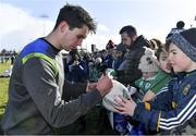 15 February 2018; Joey Carbery signs autographs for fans after an Ireland Rugby squad training at Buccaneers RFC, Dubarry Park, Athlone, Westmeath. Photo by Brendan Moran/Sportsfile