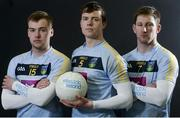 16 February 2018; Electric Ireland Sigerson Cup finalists, Stephen Coen, centre, Jimmy Fehan, right, and Eoin Lowry from University College Dublin will take on N.U.I. Galway on Saturday, 17th February at Santry Avenue. The unique quality of the Electric Ireland Higher Education Championships will see these players putting their intercounty and club rivalries aside to strive to achieve Electric Ireland Sigerson Cup glory. Electric Ireland has been shining a light on these First Class Rivals as proud sponsor of the college level competitions for the next four years. Photo by Oliver McVeigh/Sportsfile