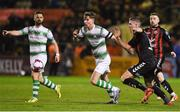 16 February 2018; Ronan Finn of Shamrock Rovers in action against Oscar Brennan of Bohemians during the SSE Airtricity League Premier Division match between Bohemians and Shamrock Rovers at Dalymount Park in Dublin. Photo by Matt Browne/Sportsfile