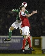 16 February 2018; Ian Bermingham of St Patrick's Athletic in action against Barry McNamee of Cork City during the SSE Airtricity League Premier Division match between St Patrick's Athletic and Cork City at Richmond Park, in Dublin. Photo by Tom Beary/Sportsfile