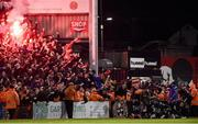 16 February 2018; Bohemians players and supporters celebrate after Dan Casey scored a goal during the SSE Airtricity League Premier Division match between Bohemians and Shamrock Rovers at Dalymount Park in Dublin. Photo by Matt Browne/Sportsfile